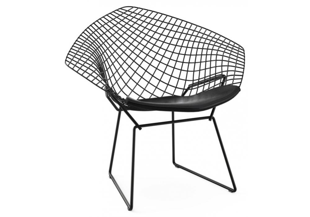 bertoia diamond chair fauteuil avec coussin knoll milia shop. Black Bedroom Furniture Sets. Home Design Ideas