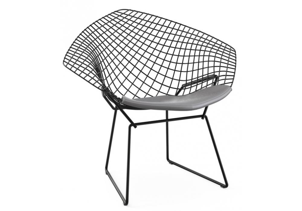 bertoia diamond chair with cushion knoll milia shop. Black Bedroom Furniture Sets. Home Design Ideas