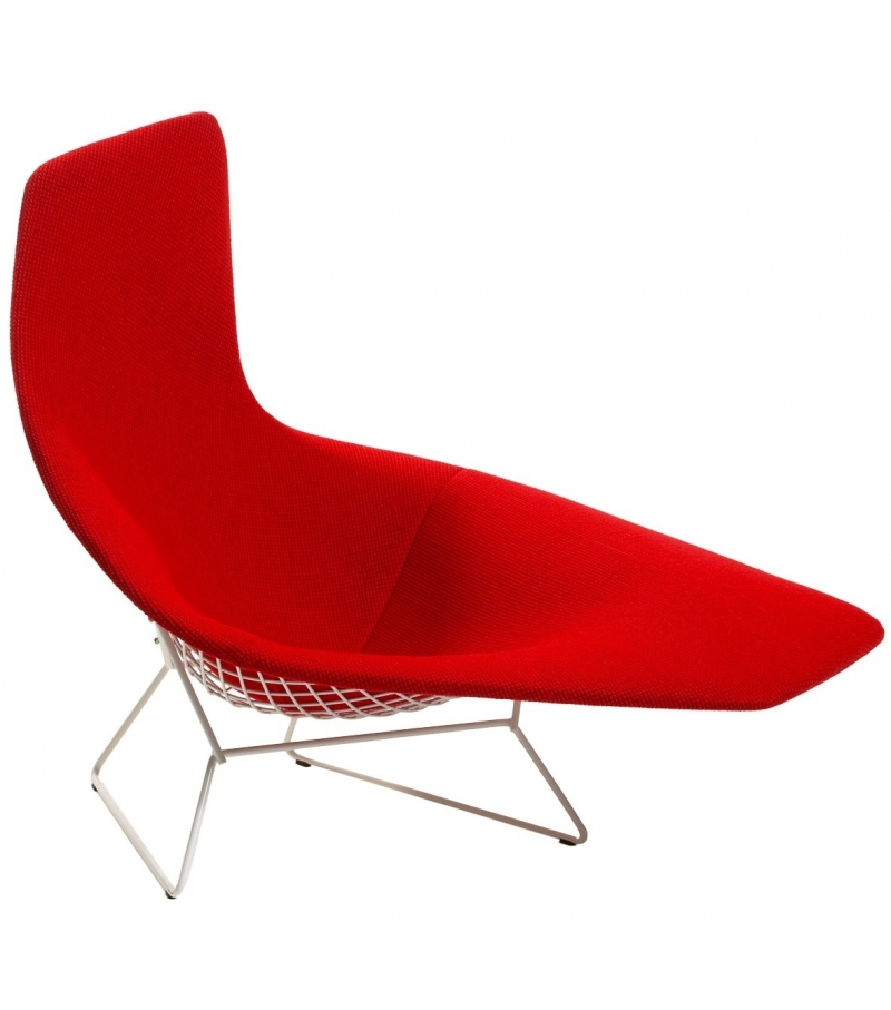 Bertoia asymmetric armchair fully upholstered knoll for Bertoia asymmetric chaise