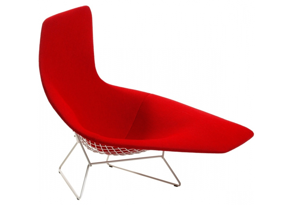 Bertoia asymmetric armchair fully upholstered knoll for Chaise bertoia knoll