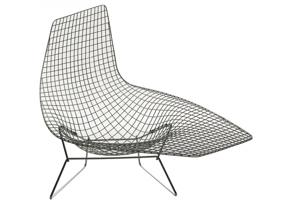 Bertoia asymmetric armchair knoll milia shop for Chaise bertoia knoll
