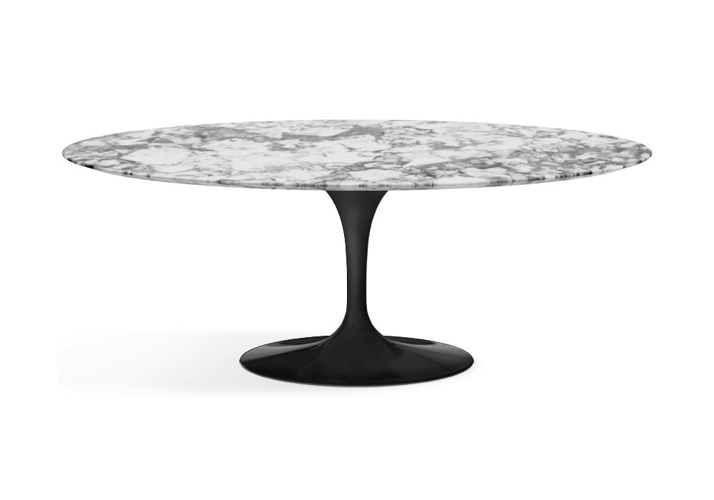 Saarinen table basse oval de marbre knoll milia shop for Table de salle a manger marbre