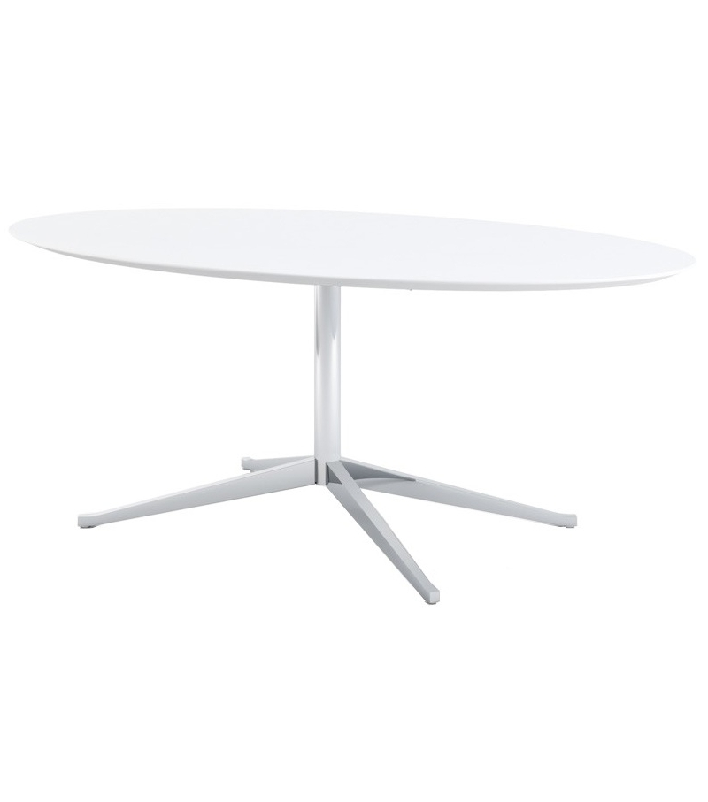 florence knoll oval table desk milia shop. Black Bedroom Furniture Sets. Home Design Ideas