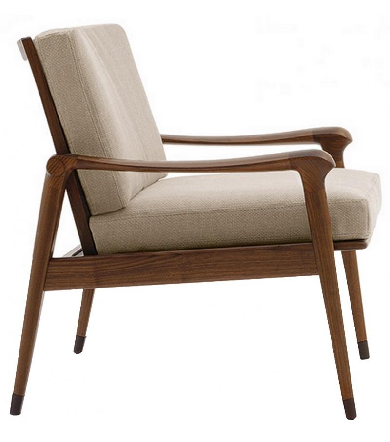 Denny Low Backrest Armchair Giorgetti