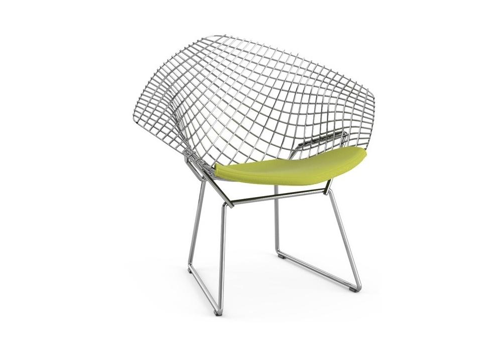 Bertoia child 39 s diamond chair petit fauteuil avec coussin knoll milia shop - Fauteuil bertoia knoll ...