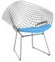 Bertoia Child's Diamond Chair Poltroncina Con Cuscino Knoll