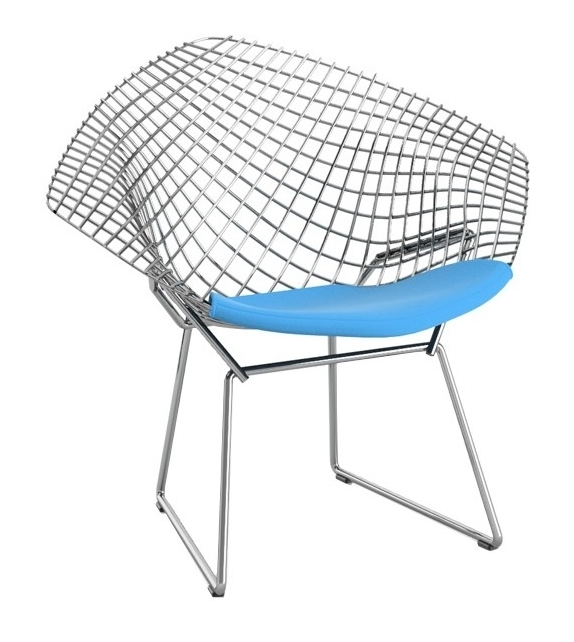 Bertoia Child's Diamond Chair Petit Fauteuil Avec Coussin Knoll