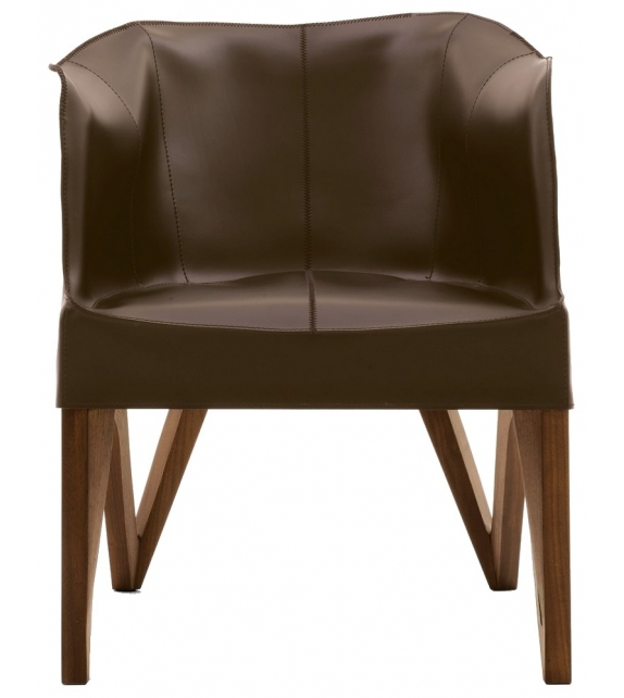 Mobius Saddle Leather Armchair Giorgetti