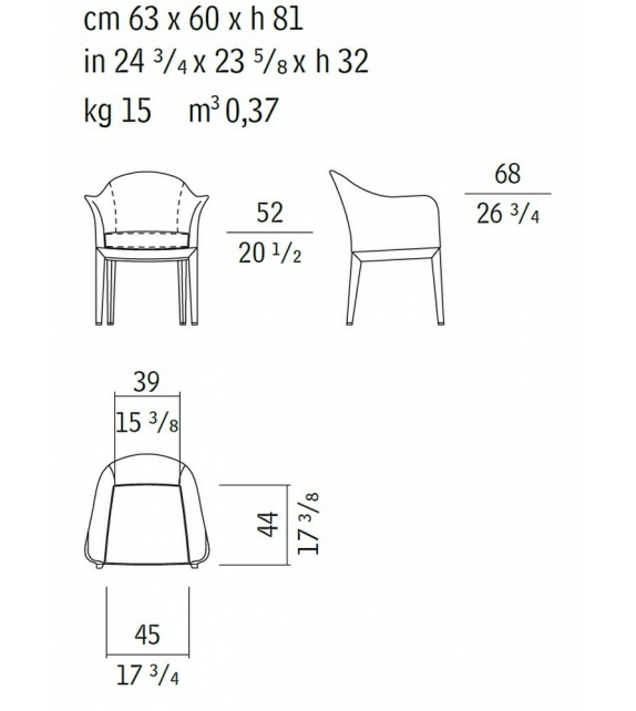 Normal 51040 Armchair Giorgetti