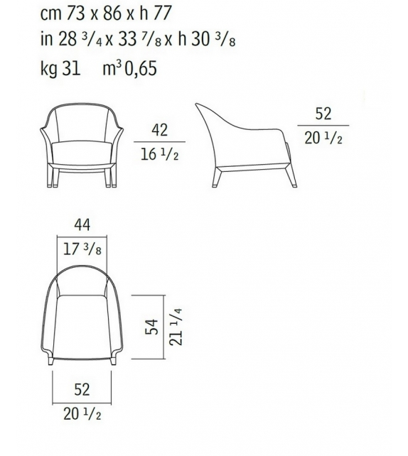 Normal 51050 Armchair Giorgetti
