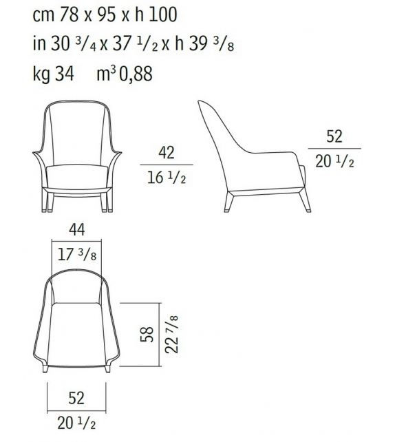 Normal Wing Chair Giorgetti