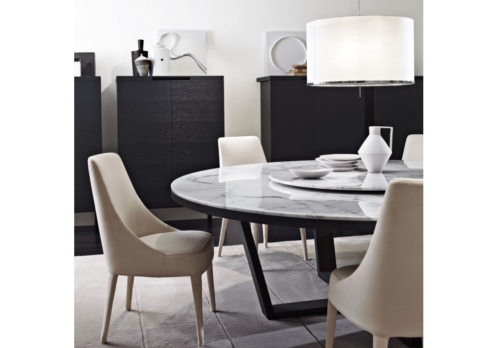 xilos table ronde avec plateau en marbre maxalto milia shop. Black Bedroom Furniture Sets. Home Design Ideas