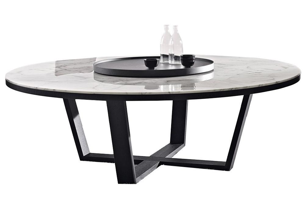 Xilos tavolo rotondo con piano in marmo maxalto milia shop - Tavolo piano marmo ...