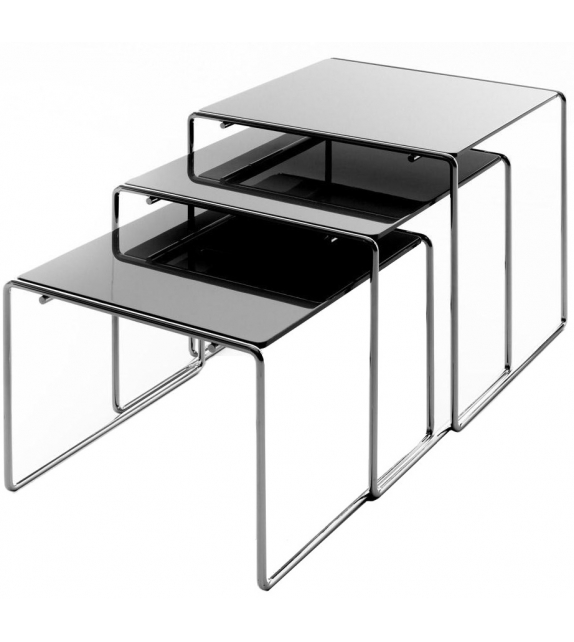 Fluoro Coffee Table Square In Matt White With Black Metal: Cassina For Sale Online