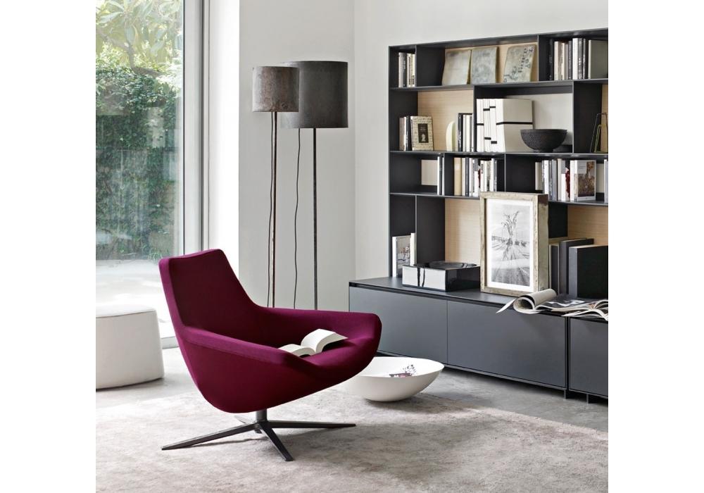 metropolitan 39 14 sessel mit niedriger r ckenlehne b b italia milia shop. Black Bedroom Furniture Sets. Home Design Ideas