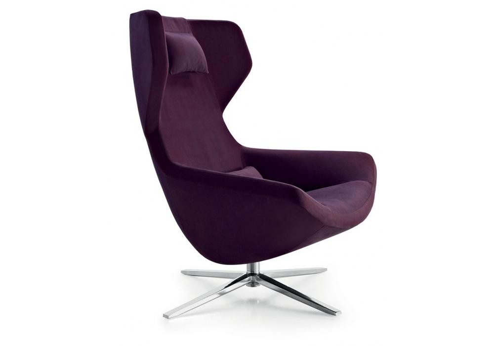 metropolitan 39 14 fauteuil avec dossier haute b b italia milia shop. Black Bedroom Furniture Sets. Home Design Ideas