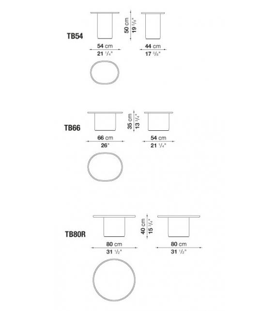 Button Tables Petit Table B&B Italia