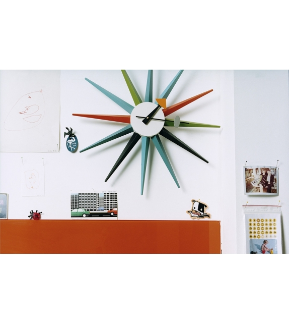 sunburst clock orologio vitra milia shop. Black Bedroom Furniture Sets. Home Design Ideas