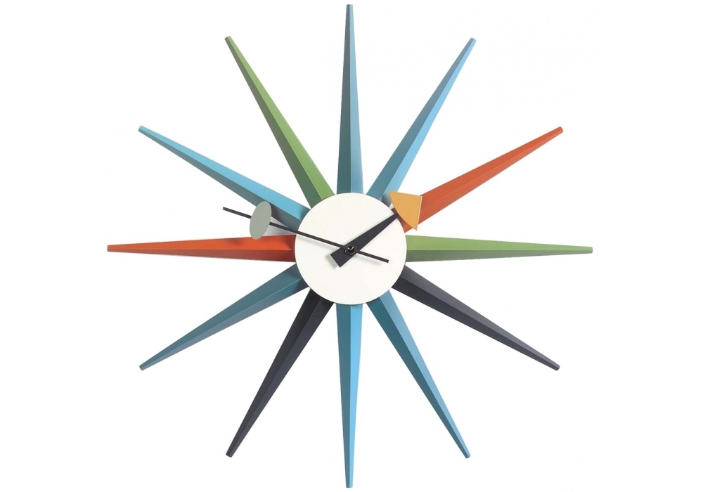 sunburst clock uhren vitra milia shop. Black Bedroom Furniture Sets. Home Design Ideas