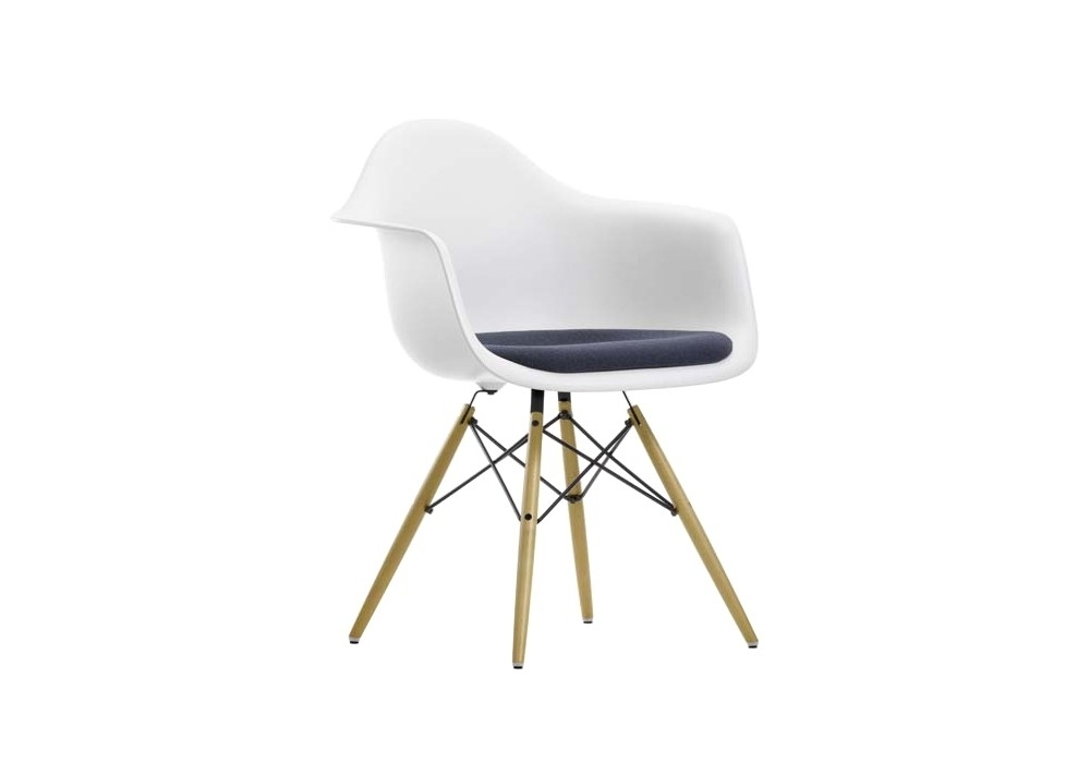 Eames Plastic Armchair Daw With Cushion, Eames Side Chair Pad