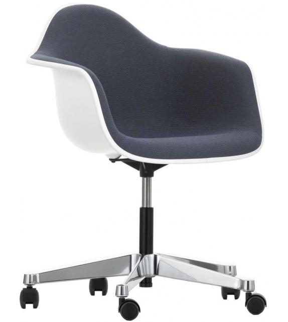Eames Plastic Armchair PACC Chaise Pivotant Avec Rembourrage Vitra