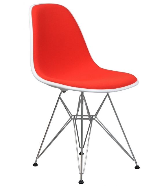 Eames Plastic Side Chair DSR Padded Vitra