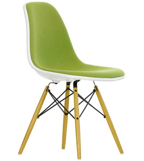 Eames Plastic Side Chair DSW Padded Vitra