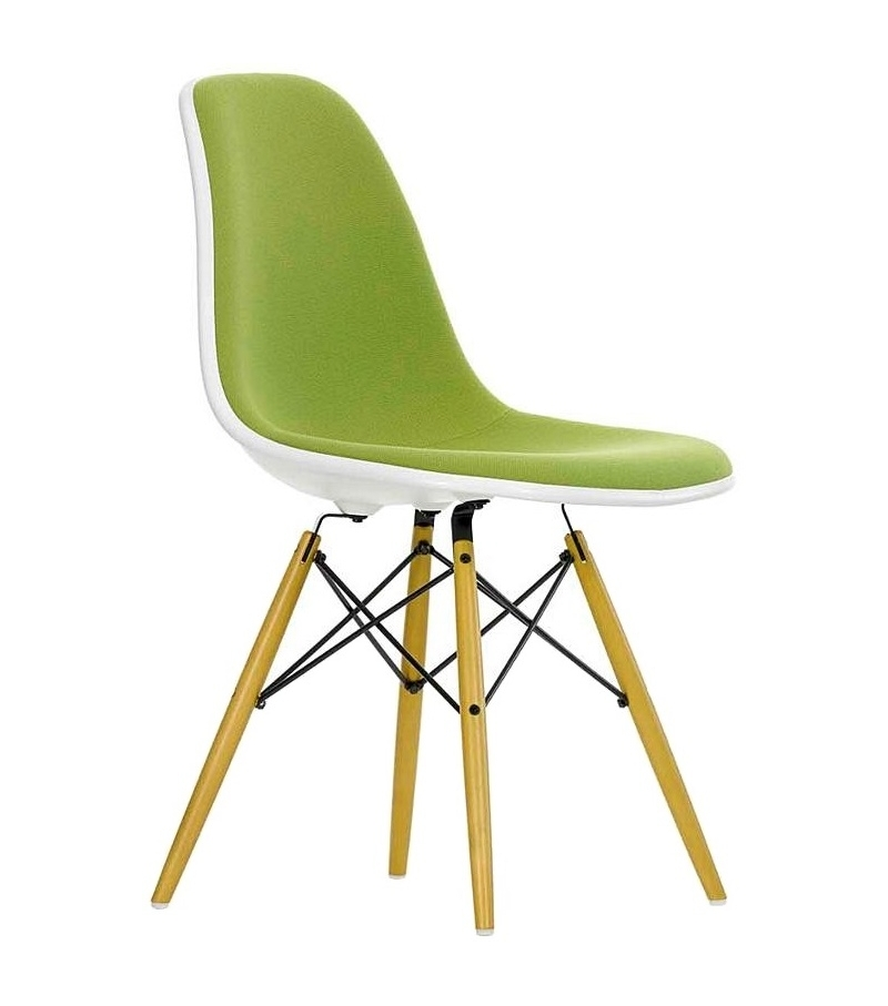 Eames plastic side chair dsw padded milia shop for Eames plastic side chair dsw replica