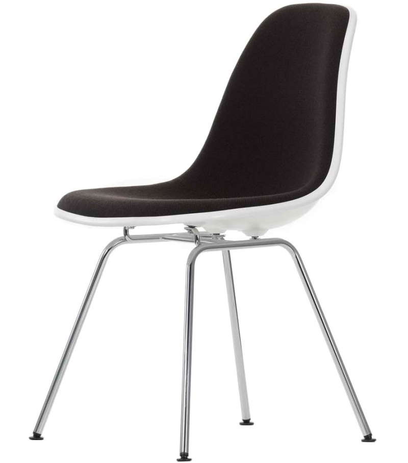Eames Plastic Side Chair DSX Silla Tapiazada Vitra