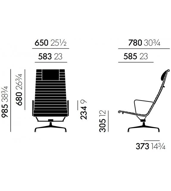 Aluminium Chair EA 124 Poltrona Vitra