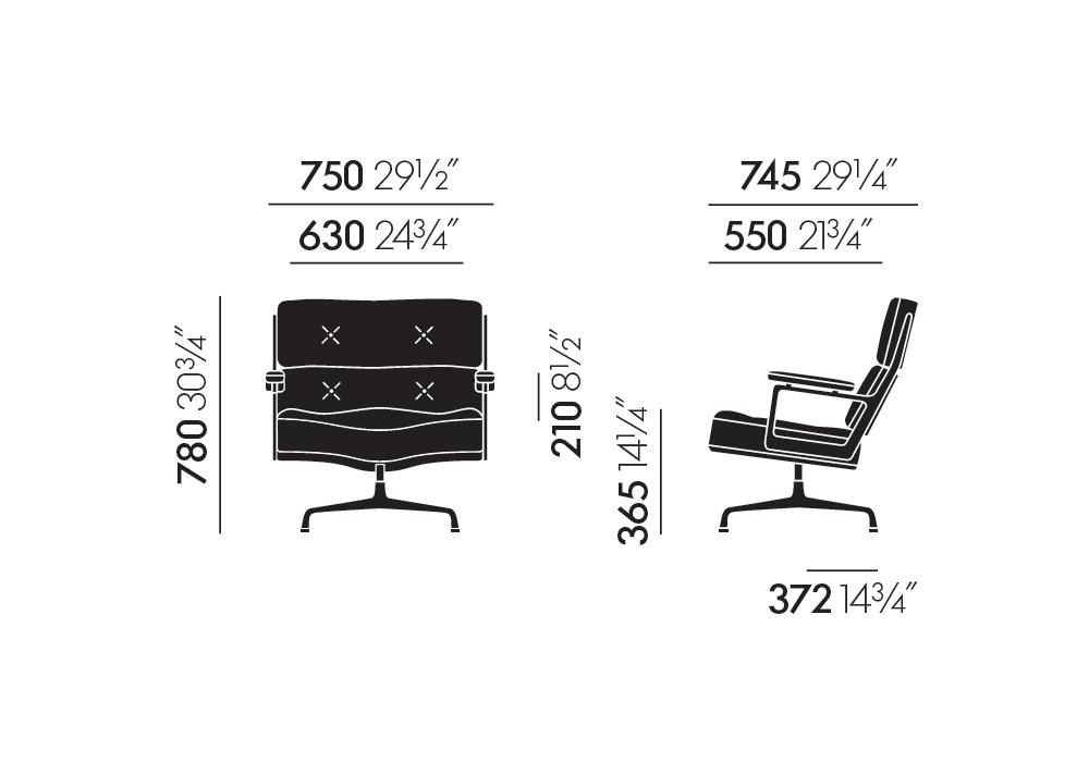 105 Fauteuil Chair Lobby Vitra Es 3TlKJcF1