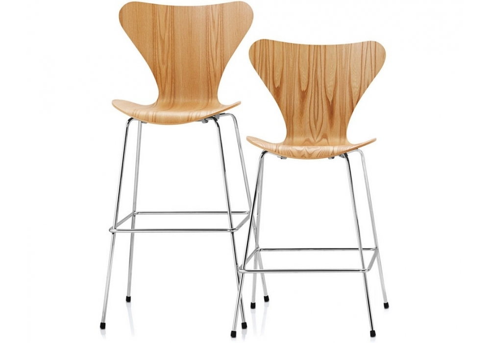 series 7 bar stool hocker fritz hansen milia shop. Black Bedroom Furniture Sets. Home Design Ideas