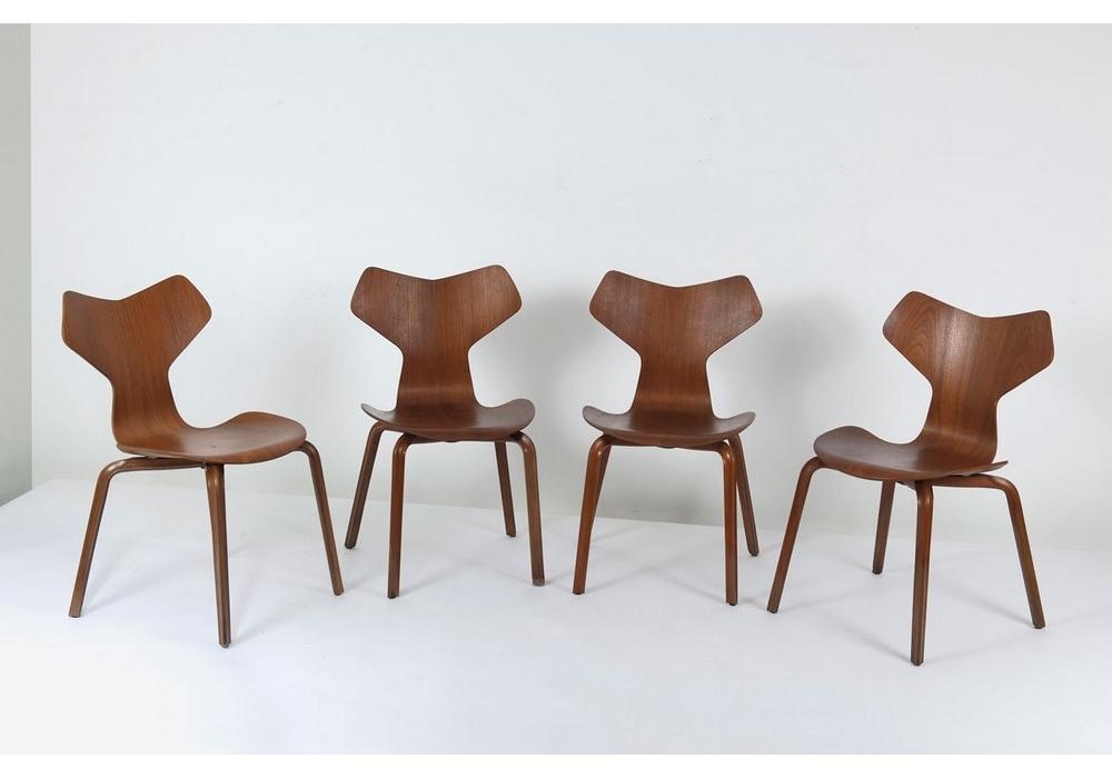 Grand prix chaise avec jambes de bois fritz hansen milia for Prix chaise bois