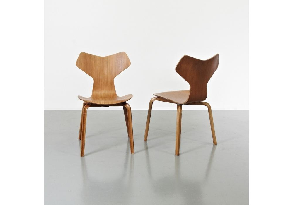 grand prix holzbeine stuhl fritz hansen milia shop. Black Bedroom Furniture Sets. Home Design Ideas