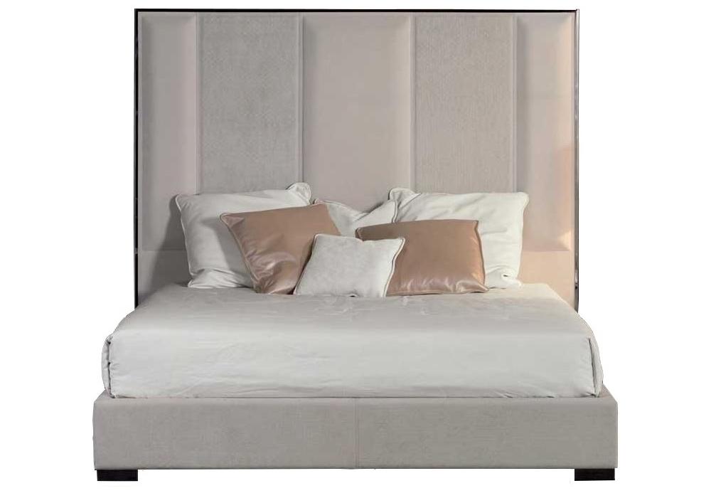 stripe bett hohem kopfteil rugiano milia shop. Black Bedroom Furniture Sets. Home Design Ideas