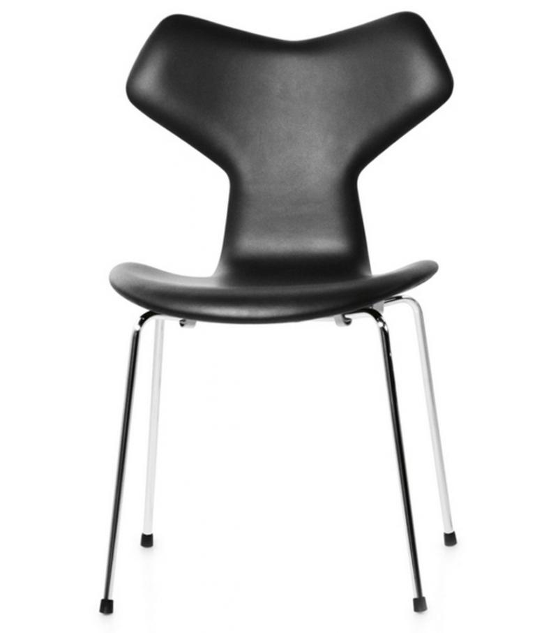 Grand prix upholstered chair fritz hansen milia shop for Chaise cuir roche bobois prix