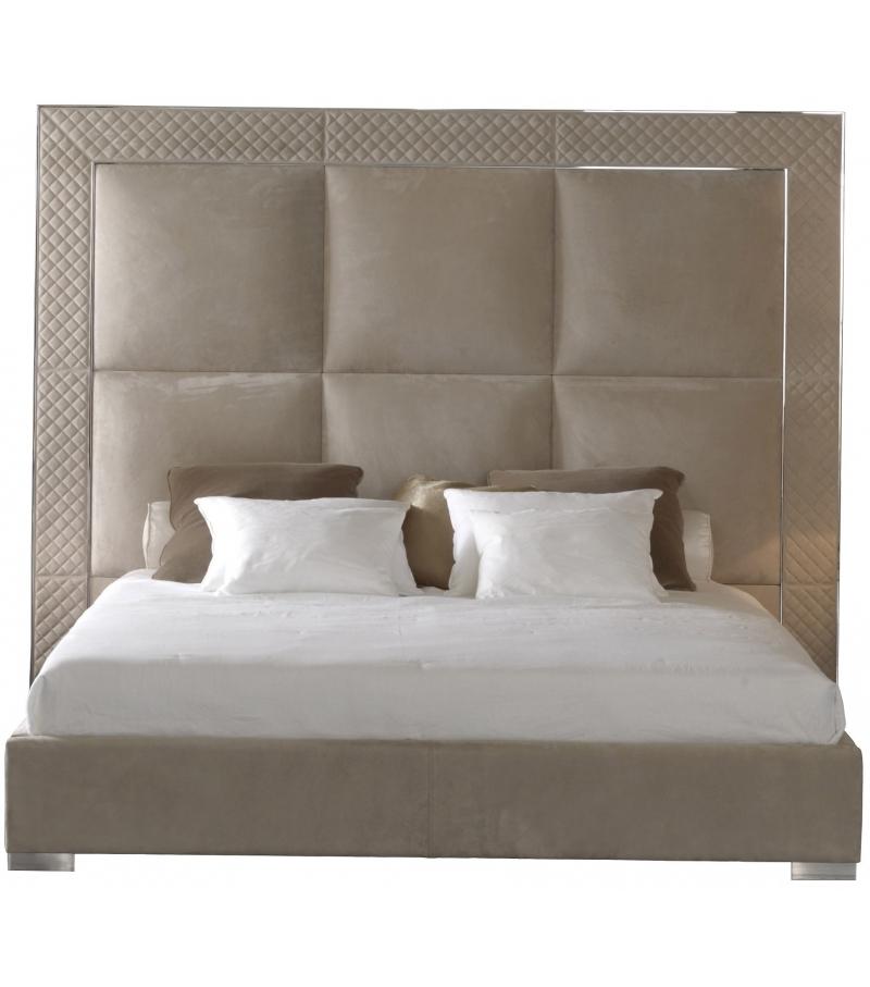 Aura letto con testata alta rugiano milia shop - Spalliera letto con cuscini ...