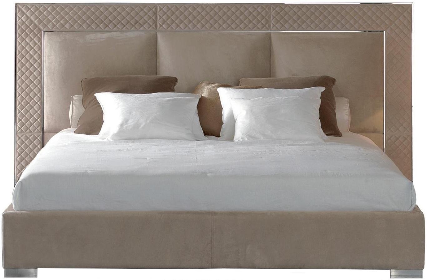 Lit Avec Tete De Lit Matelassé aura lit avec tête de lit basse rugiano - milia shop