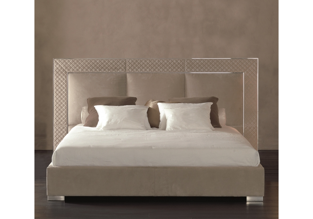 aura bed with low headboard rugiano - Lowprofilekopfteil