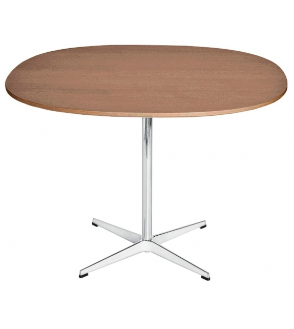 Table Series Supercircular Walnut Top Pedestal Base Fritz Hansen