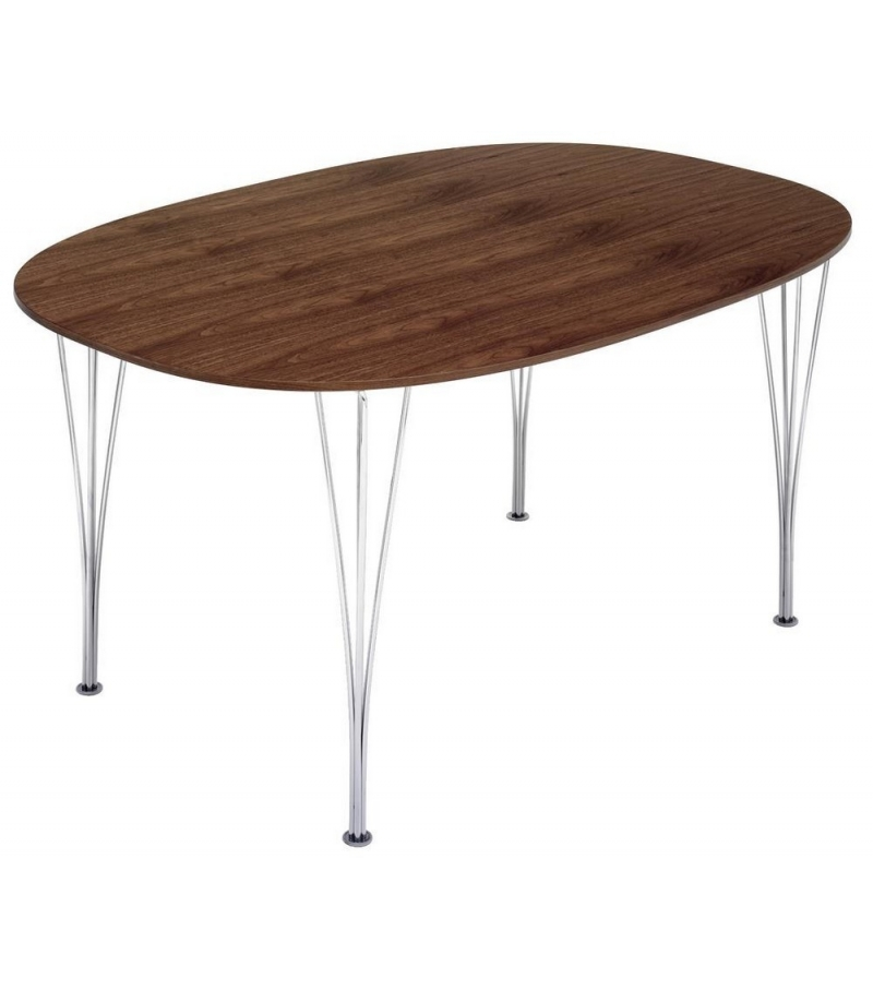 Table Series Super Elliptical Span Legs Walnut Top Fritz Hansen