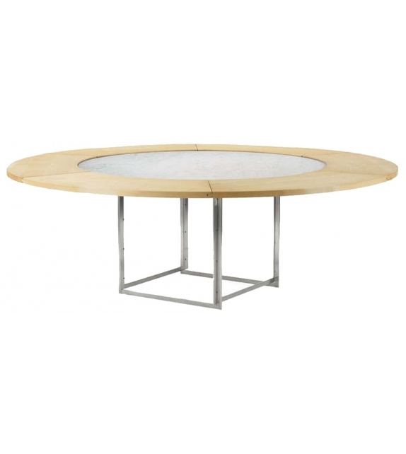 PK54+PK54A Table With Extension Ring Fritz Hansen