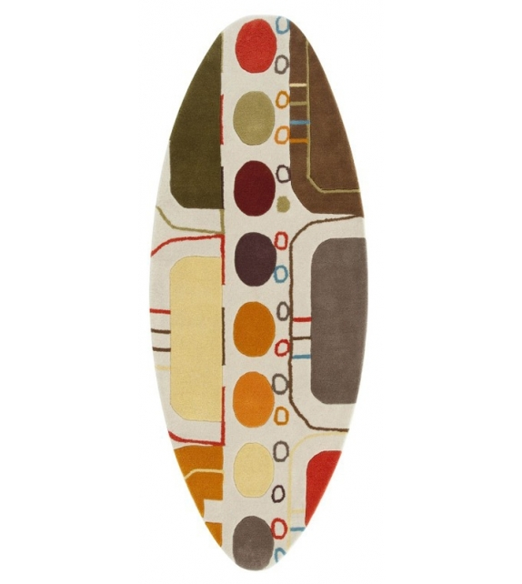 Hand Tufted Surf Malibù Alfombra Gan
