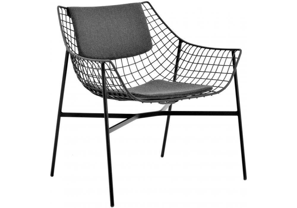 summer set fauteuil avec coussin assise dossier varaschin milia shop. Black Bedroom Furniture Sets. Home Design Ideas