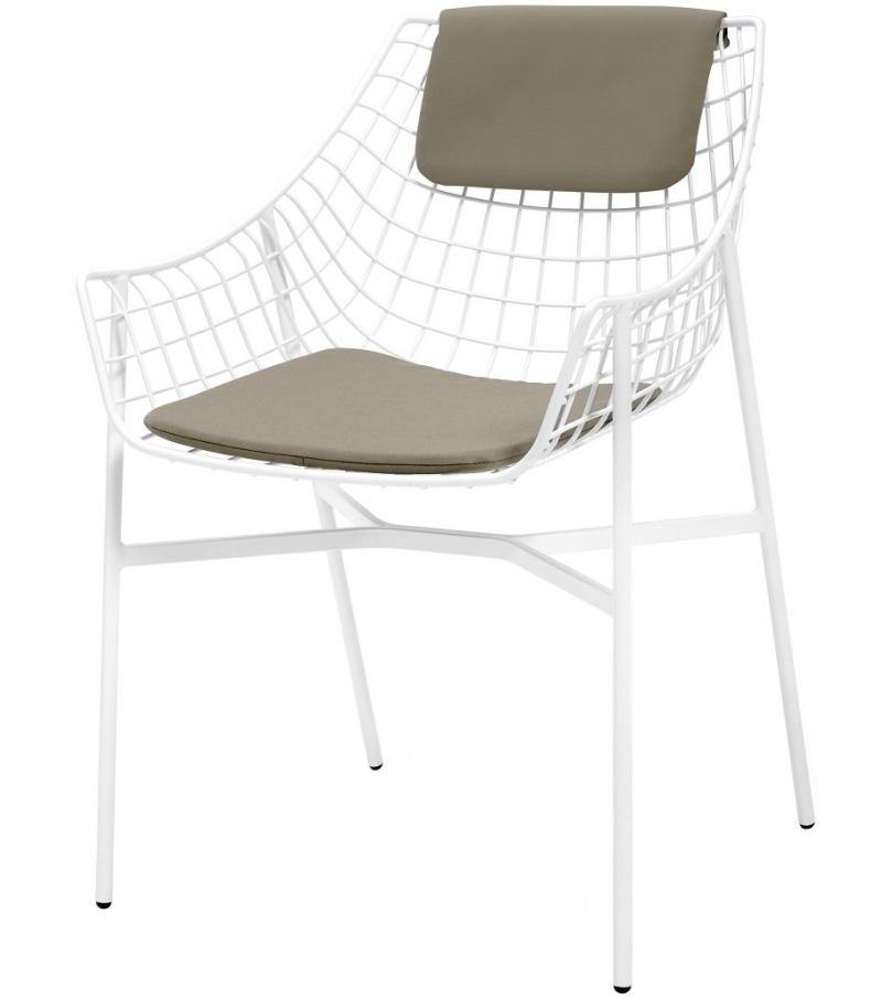 Kleine Sessel summer set kleine sessel mit sitz rückenkissen varaschin milia