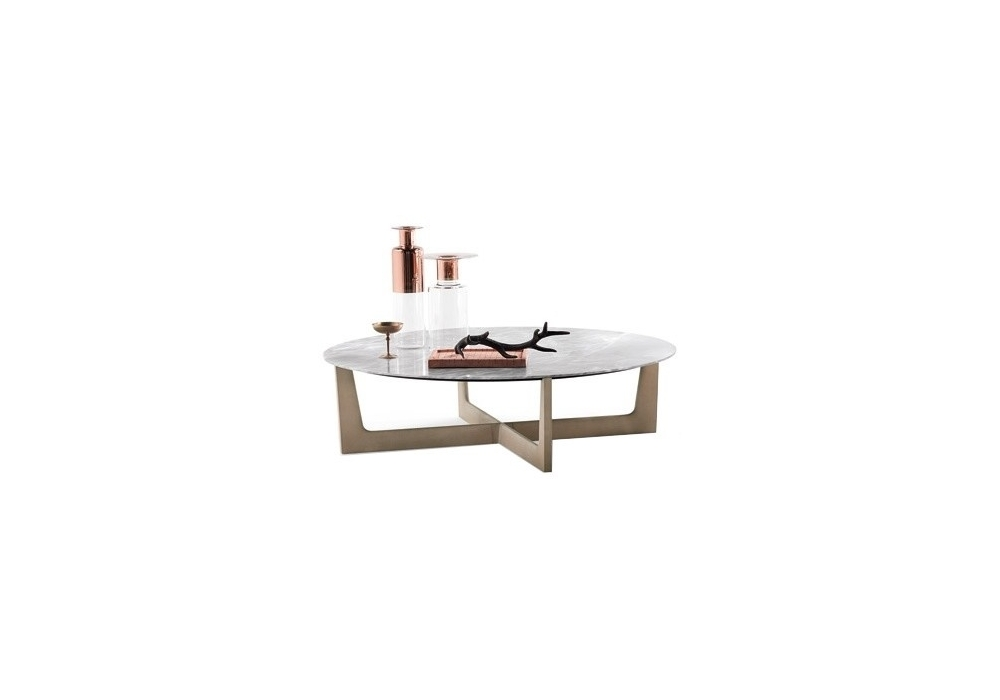 Ilary Round Low Table Poltrona Frau - Milia Shop