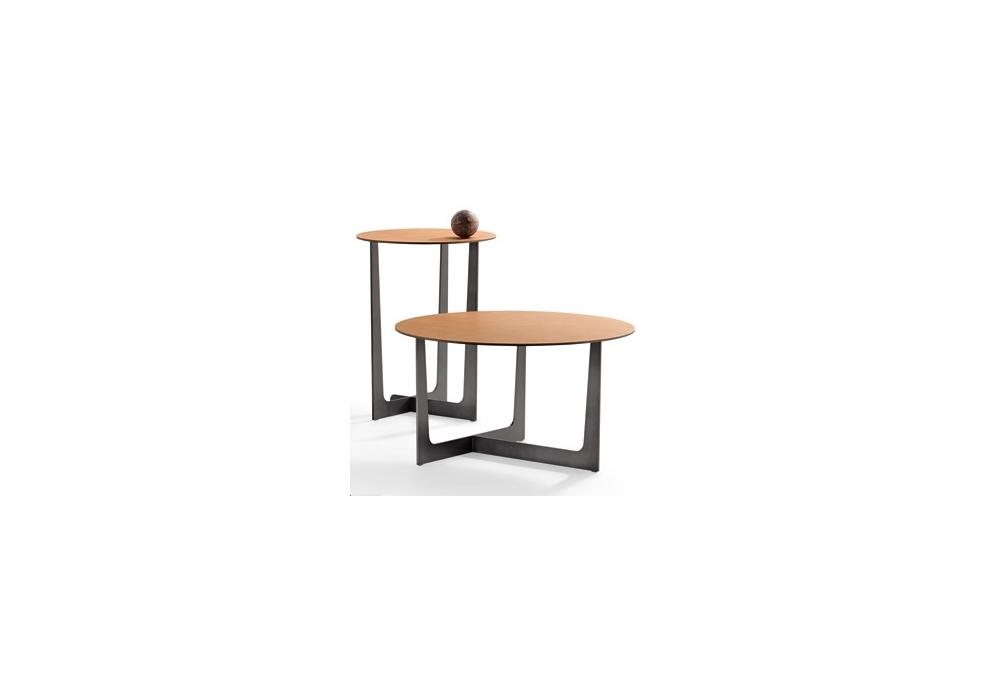 Ilary Saddle Extra Round Coffee Table Poltrona Frau - Milia Shop