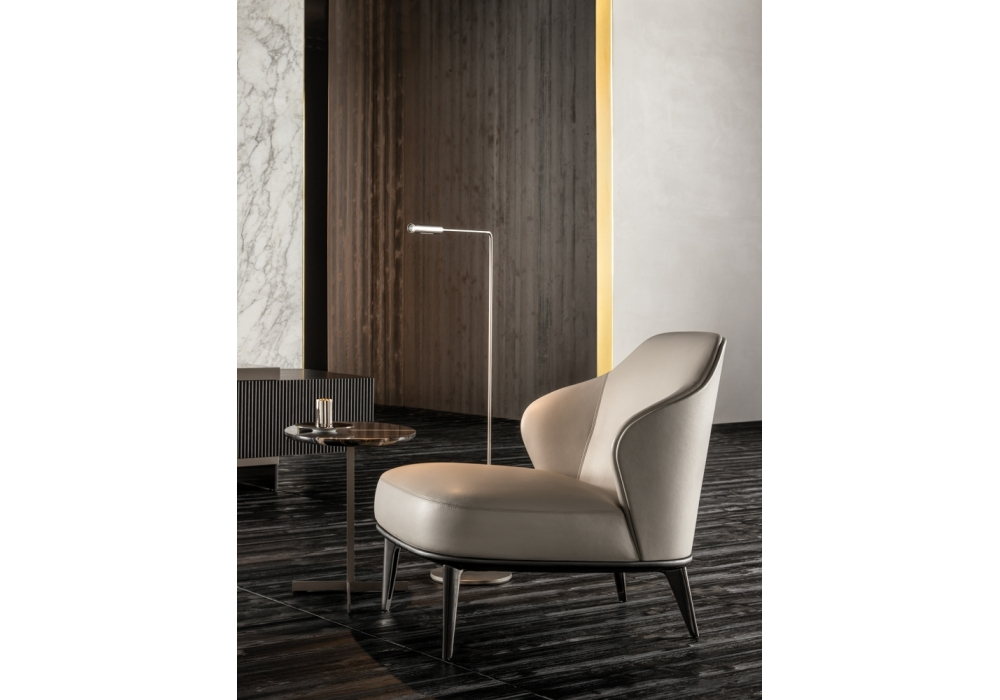 leslie fauteuil sans accoudoirs minotti milia shop. Black Bedroom Furniture Sets. Home Design Ideas