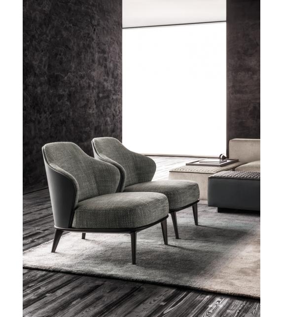 leslie kleine sessel mit schale aus leder minotti milia shop. Black Bedroom Furniture Sets. Home Design Ideas