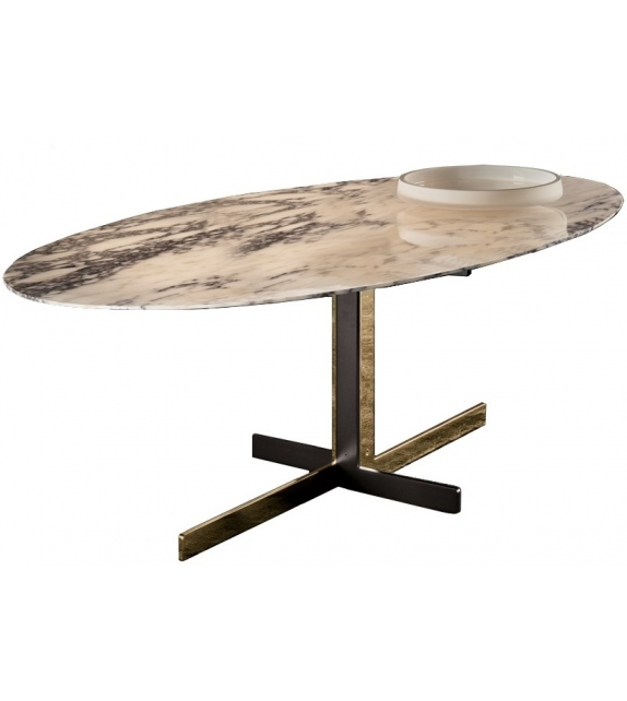 catlin table avec plateau en marbre minotti milia shop. Black Bedroom Furniture Sets. Home Design Ideas